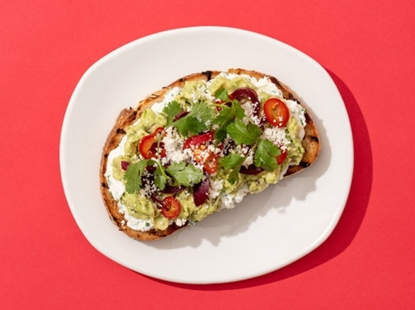 Is there a better way to enjoy avocado? We brought toast back for all of us to enjoy. Featuring crushed avocado, lemon ricotta, pickled onions, Fresno chilies, and fresh-picked herbs on grilled sourdough. Order it as a light lunch, snack or appetizer to share. Available for a limited time at all Tender Greens locations. Order in our app or online now!